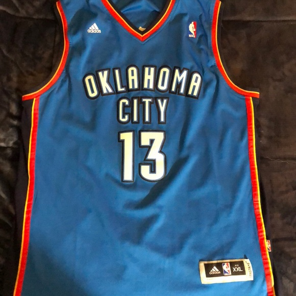 detailed look ed46f bb923 James Harden Oklahoma City official jersey